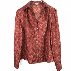 Ann Taylor 100% Silk Button Up Blouse